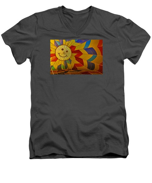 Oh Happy Day Men's V-Neck T-Shirt by Mike Martin