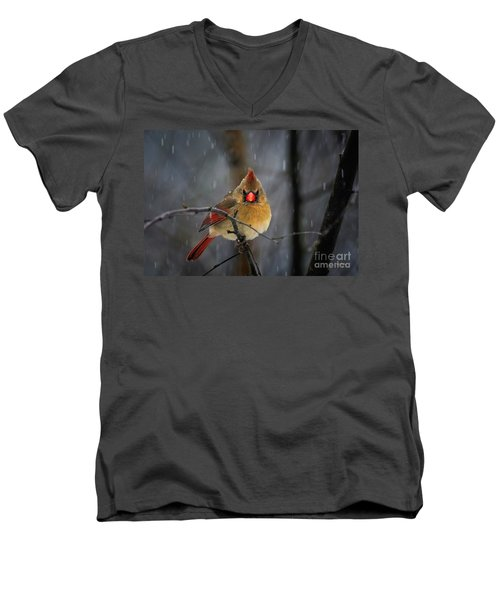 Oh No Not Again Men's V-Neck T-Shirt by Lois Bryan