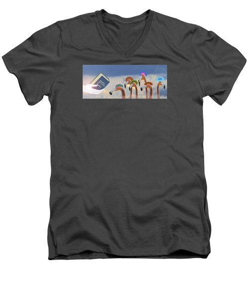 Men's V-Neck T-Shirt featuring the photograph Oh When The Saints Go Marching In by I'ina Van Lawick