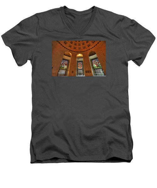 Ohio Stadium Men's V-Neck T-Shirt by David Bearden