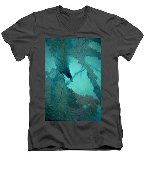 Oil Spill Deep Within The Heart Of The Gulf Men's V-Neck T-Shirt
