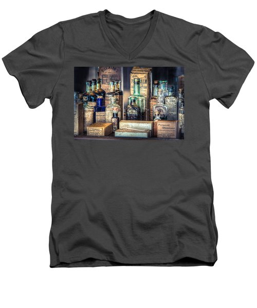 Ointments Tonics And Potions - A 19th Century Apothecary Men's V-Neck T-Shirt