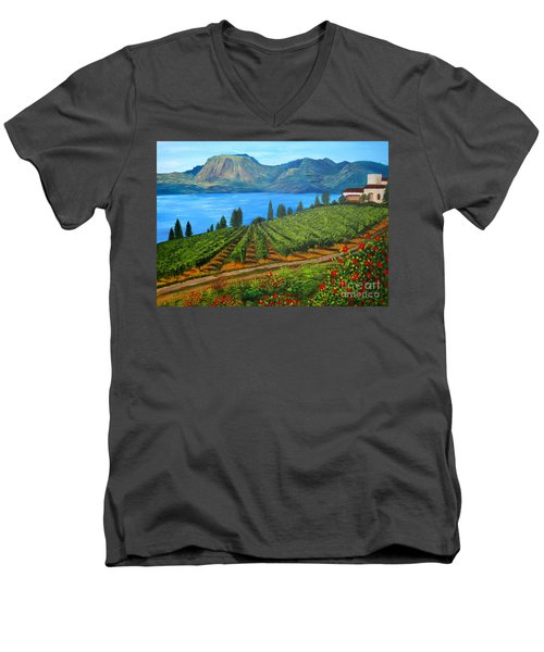 Okanagan Vineyard Men's V-Neck T-Shirt