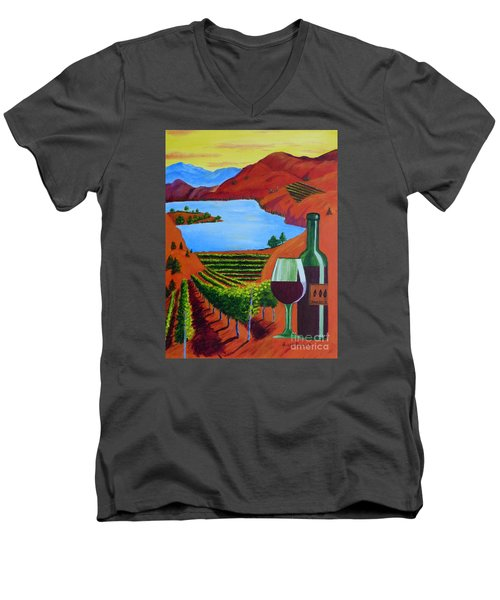 Okanagan Wine Country Men's V-Neck T-Shirt
