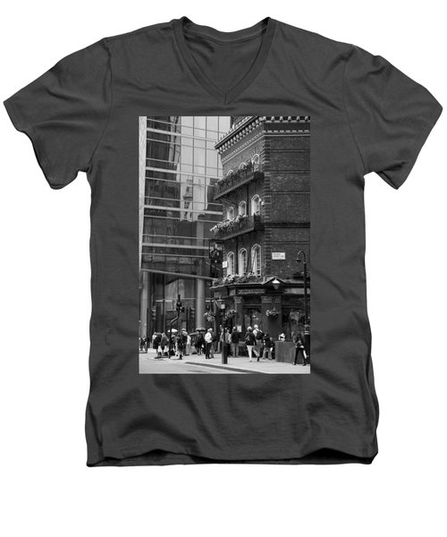 Men's V-Neck T-Shirt featuring the photograph Old And New by Chevy Fleet