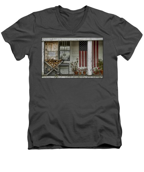 Old Apple Orchard Porch Men's V-Neck T-Shirt