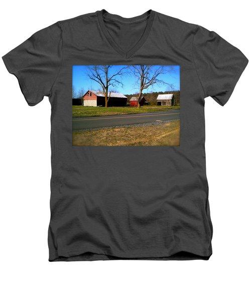 Old Barn Men's V-Neck T-Shirt by Amazing Photographs AKA Christian Wilson