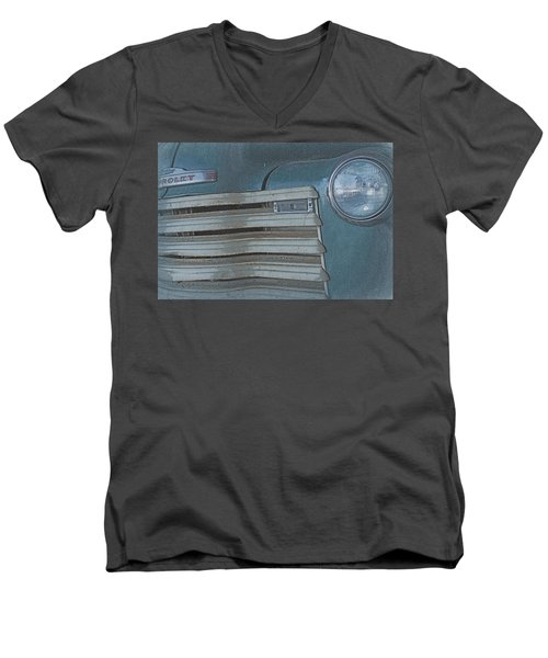 Men's V-Neck T-Shirt featuring the photograph Old Blue by Lynn Sprowl