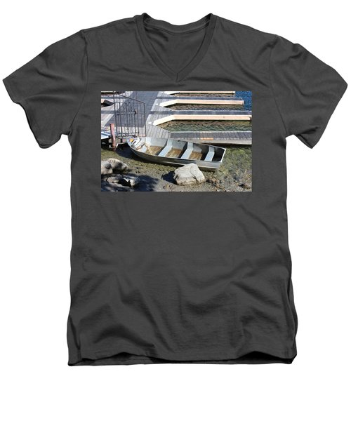 Old Boat And Dock Men's V-Neck T-Shirt