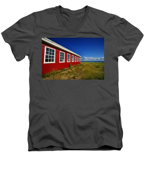 Old Cannery Building Men's V-Neck T-Shirt