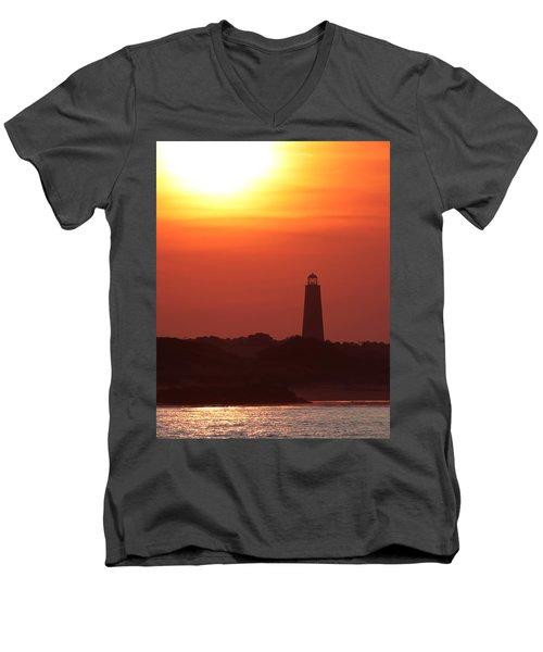 Old Cape Henry Lighthouse  Men's V-Neck T-Shirt