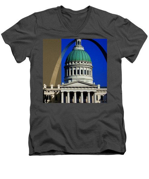 Old Courthouse Dome Arch Men's V-Neck T-Shirt