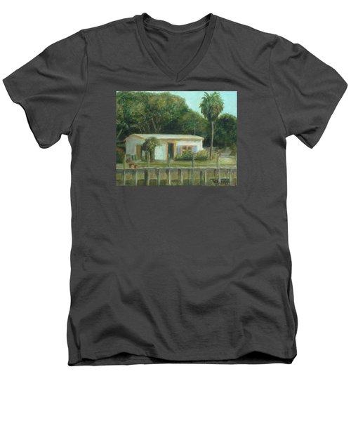 Old Florida Fish Camp And Marina Men's V-Neck T-Shirt