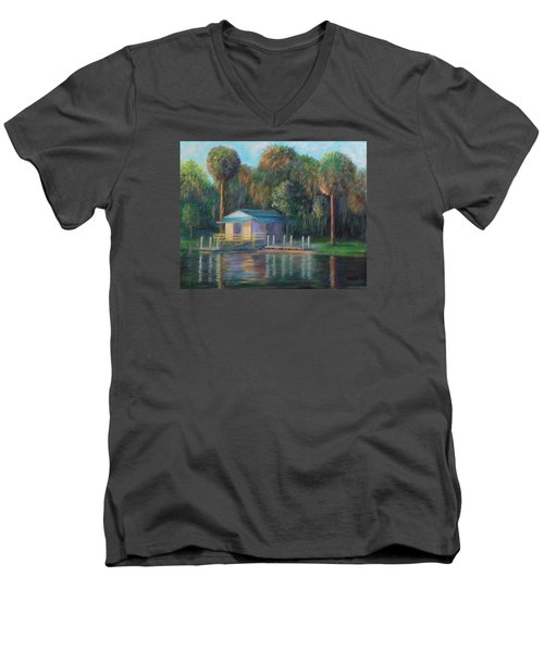 Old Florida Morning At Salt Springs Men's V-Neck T-Shirt