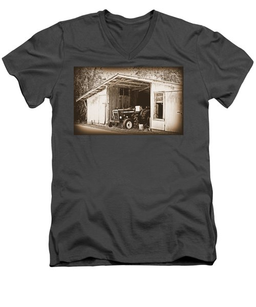 Men's V-Neck T-Shirt featuring the photograph Old Ford by Faith Williams
