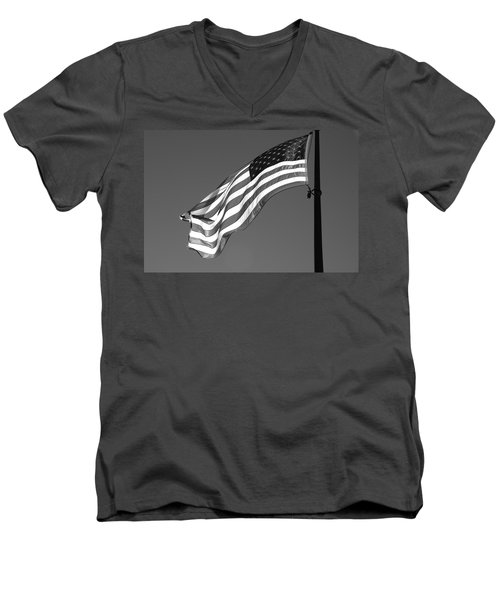 Men's V-Neck T-Shirt featuring the photograph Old Glory by Ron White