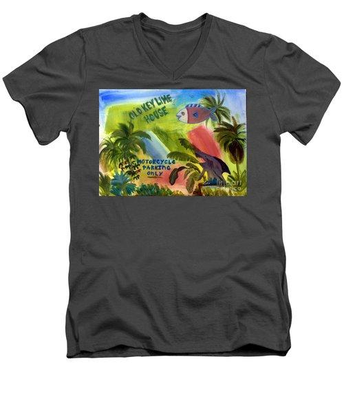 Old Key Lime House Men's V-Neck T-Shirt