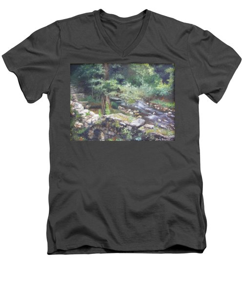 Old Mill Steam II Men's V-Neck T-Shirt
