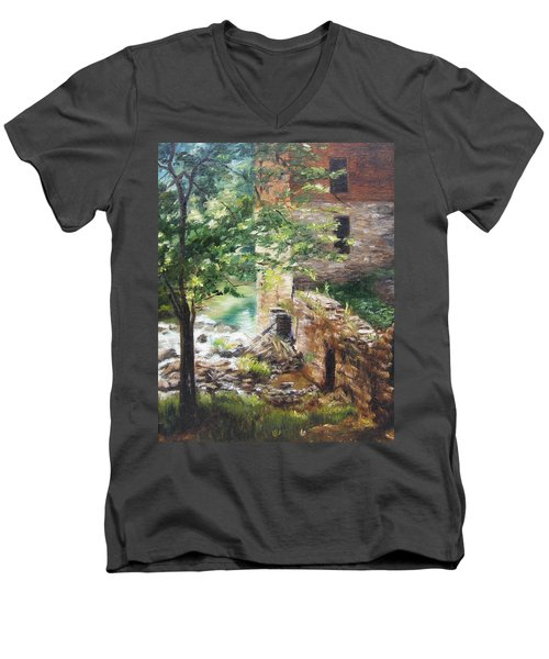 Old Mill Stream I Men's V-Neck T-Shirt