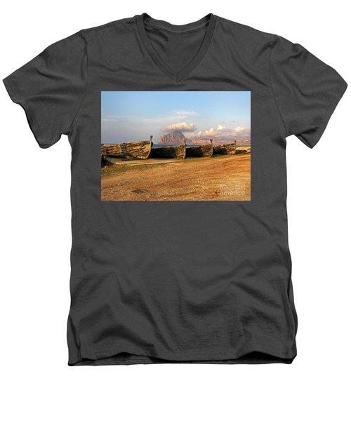 Aquatic Dream Of Sicily Men's V-Neck T-Shirt