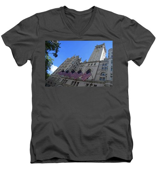 The Old Post Office Or Trump Tower Men's V-Neck T-Shirt by Cora Wandel
