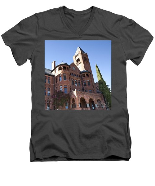 Old Preston Castle Men's V-Neck T-Shirt by David Millenheft
