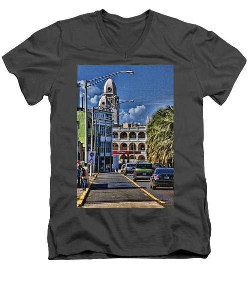 Old San Juan Cityscape Men's V-Neck T-Shirt