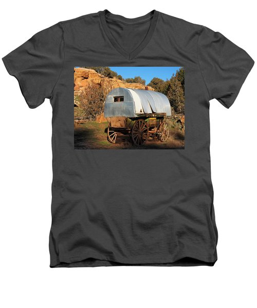 Old Sheepherder's Wagon Men's V-Neck T-Shirt