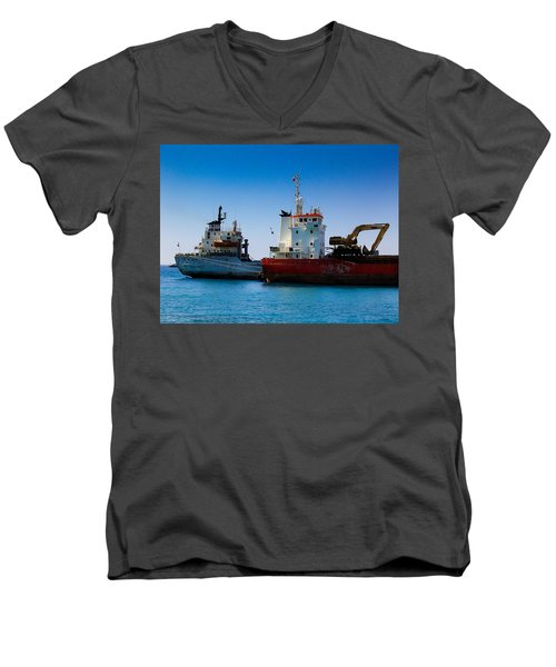 Old Ships Men's V-Neck T-Shirt by Kevin Desrosiers