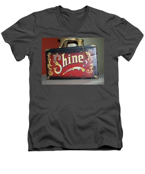Old Shoe Shine Kit Men's V-Neck T-Shirt by Pamela Walrath