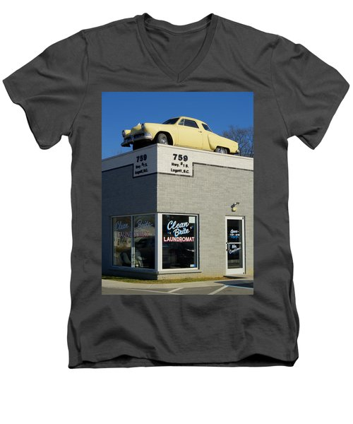 Old Studebaker Building Men's V-Neck T-Shirt