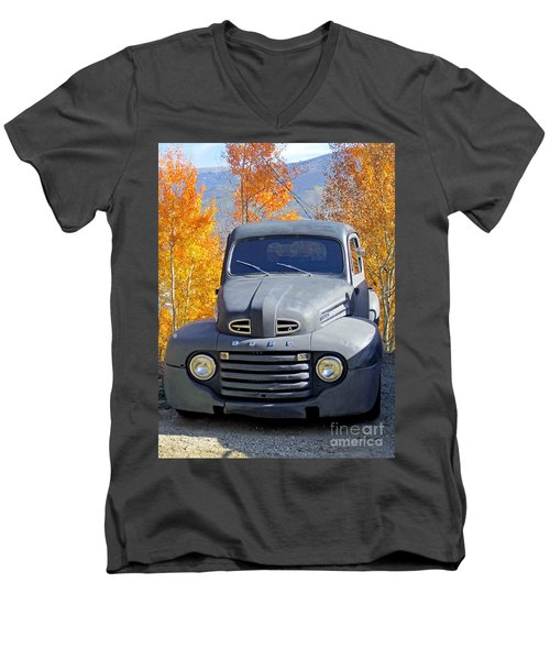 Men's V-Neck T-Shirt featuring the photograph Old Time Fun by Fiona Kennard