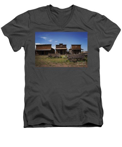 Old Trail Town Men's V-Neck T-Shirt