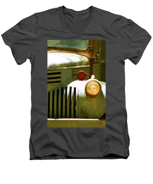 Old Truck Abstract Men's V-Neck T-Shirt