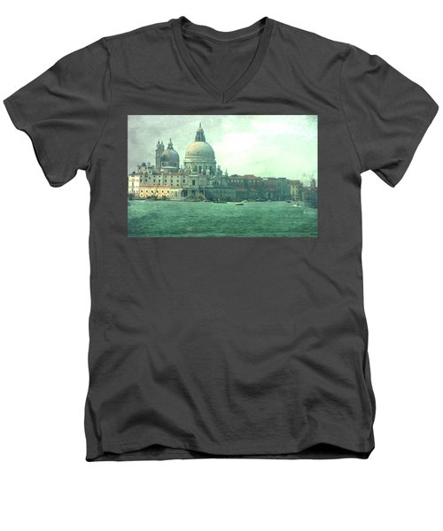 Men's V-Neck T-Shirt featuring the photograph Old Venice by Brian Reaves