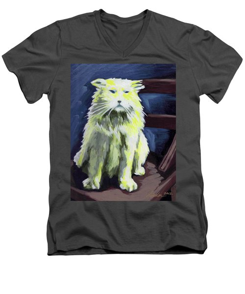 Old World Cat Men's V-Neck T-Shirt