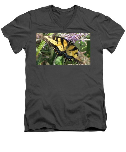 Men's V-Neck T-Shirt featuring the photograph Old World Swallowtail by Jennifer Wheatley Wolf