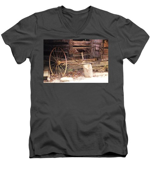 Men's V-Neck T-Shirt featuring the photograph Ole Wheely by Faith Williams