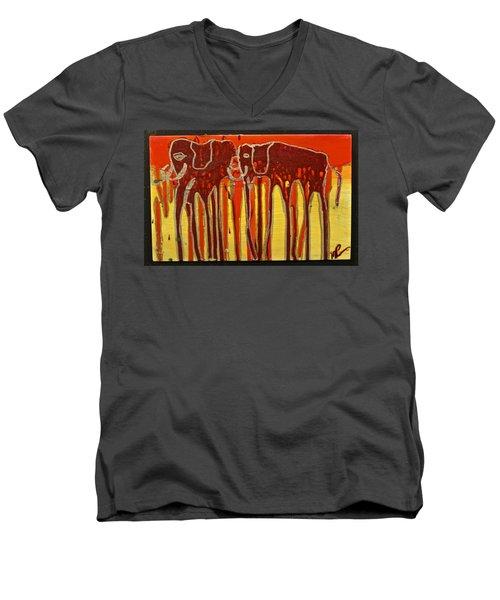 Oliphaunts Men's V-Neck T-Shirt by Mario Perron