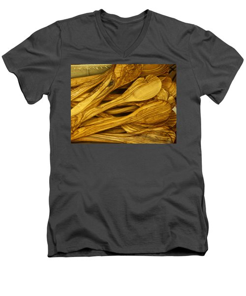 Olive Wood Men's V-Neck T-Shirt