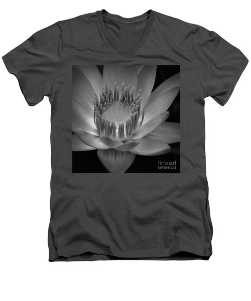 Om Mani Padme Hum Hail To The Jewel In The Lotus Men's V-Neck T-Shirt by Sharon Mau