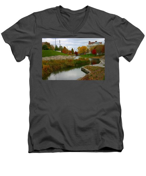 Men's V-Neck T-Shirt featuring the photograph Omaha In Color by Elizabeth Winter