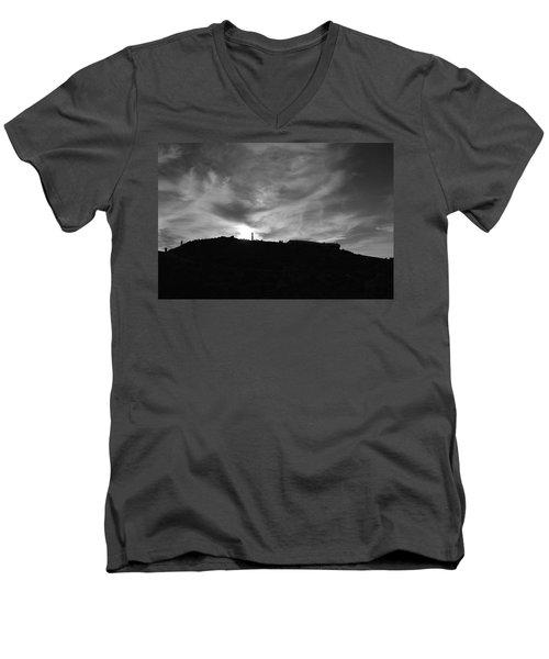 Ominous Sky Over Mt. Washington Men's V-Neck T-Shirt