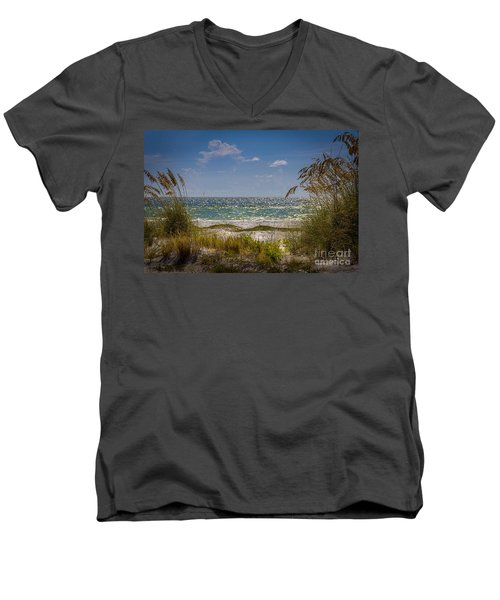 On A Clear Day Men's V-Neck T-Shirt by Marvin Spates