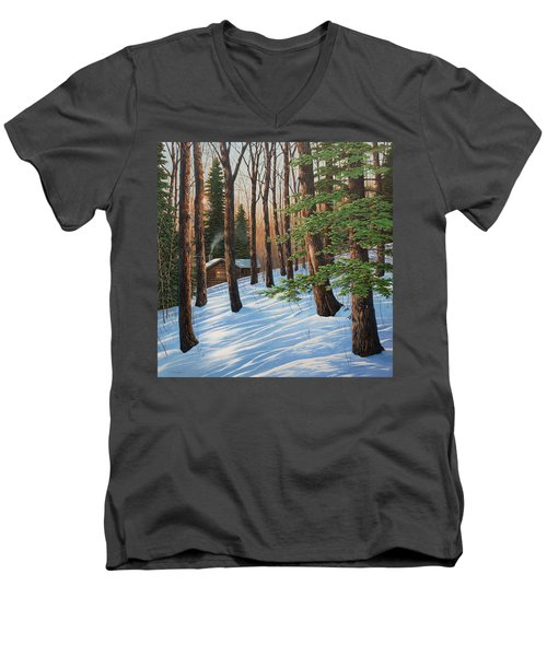 On A Winter's Morn Men's V-Neck T-Shirt