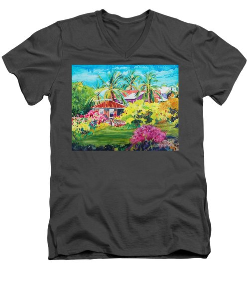 On The Big Island Men's V-Neck T-Shirt