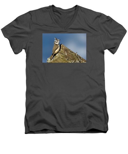 On The Edge Men's V-Neck T-Shirt by Torbjorn Swenelius