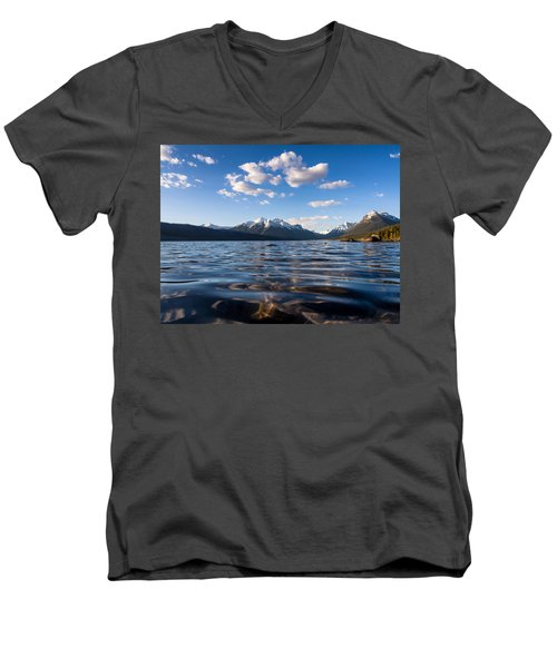 On The Lake Men's V-Neck T-Shirt by Aaron Aldrich