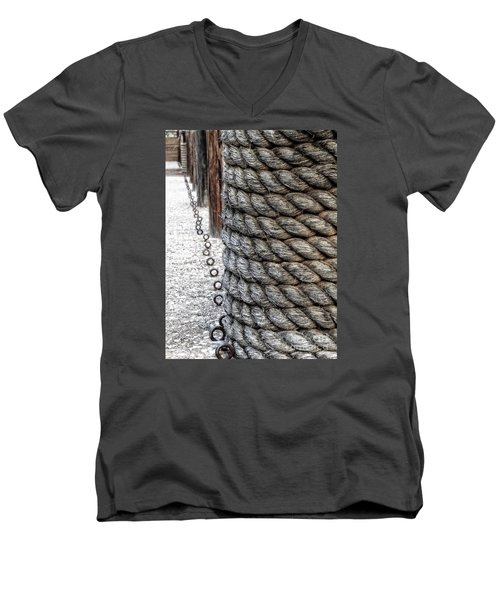 Men's V-Neck T-Shirt featuring the photograph On The Marina - Photographic Art by Ella Kaye Dickey