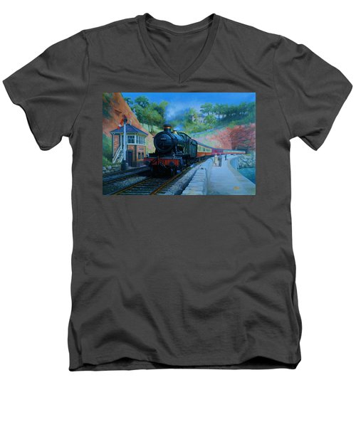 On The Sea Wall. Men's V-Neck T-Shirt